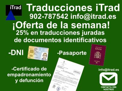 Traducción Jurada de Documentos de Identificación