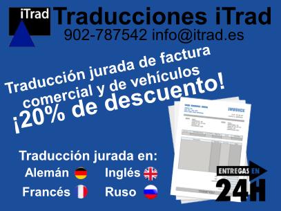 TRADUCCIÓN JURADA DE FACTURAS