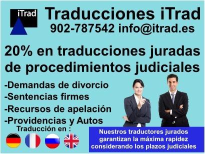 TRADUCCIÓN JURADA DE DOCUMENTOS PARA ACTUACIONES PROCESALES