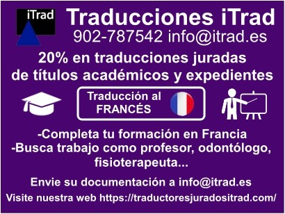 TRADUCCIÓN JURADA AL FRANCÉS PARA ESTUDIANTES Y PROFESIONALES
