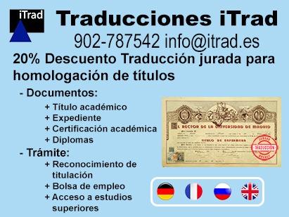 TRADUCCIÓN JURADA PARA HOMOLOGACIÓN DE TÍTULOS