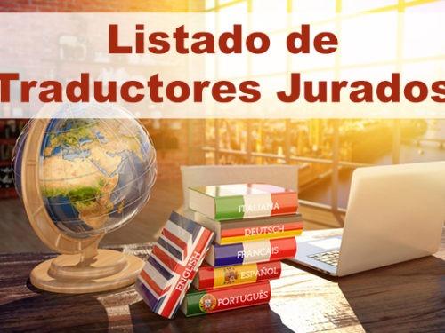 LISTADO DE TRADUCTORES JURADOS