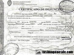 la traducción jurada a ruso de un certificado de defunción.