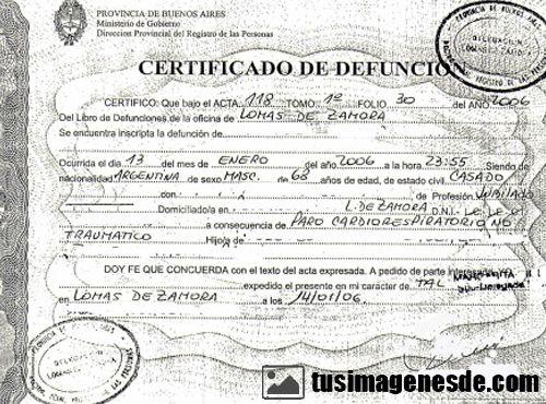 TRADUCCIÓN JURADA A RUSO DE CERTIFICADO DEFUNCIÓN