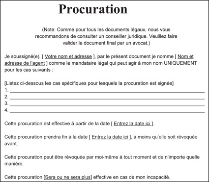 TRADUCTION ASSERMENTÉE DE PROCURATION