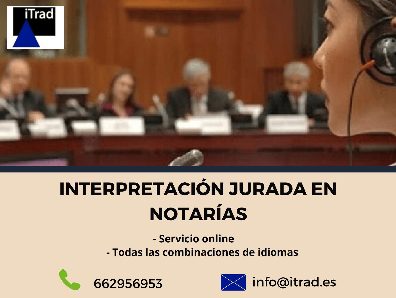 TRADUCTOR JURADO DE INGLÉS EN NOTARÍA